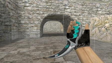 Модель ножа HD «Karambit | Asiimov Reworked Blue» для CS 1.6