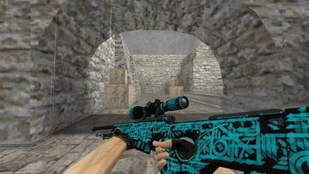 Модель HD AWP «Handwritten» для CS 1.6