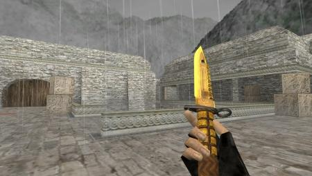 Модель ножа HD «M9 Bayonet | Fine Gold» для CS 1.6