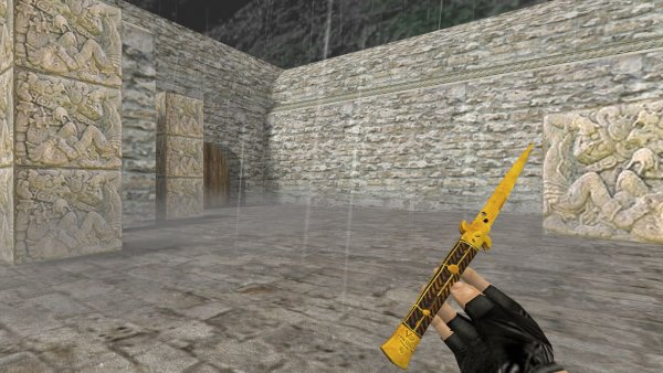 Модель ножа HD «Stiletto Knife | Fine Gold» для CS 1.6