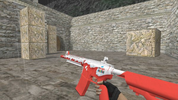 Модель HD M4A4 «Guntime Kinder» для CS 1.6