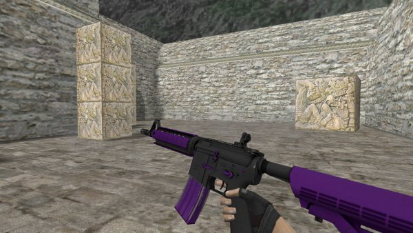 Модель HD M4A4 «Ultraviolet» для CS 1.6