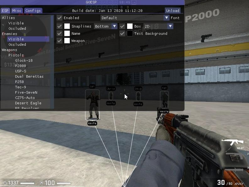 ESP cheat for CS: GO