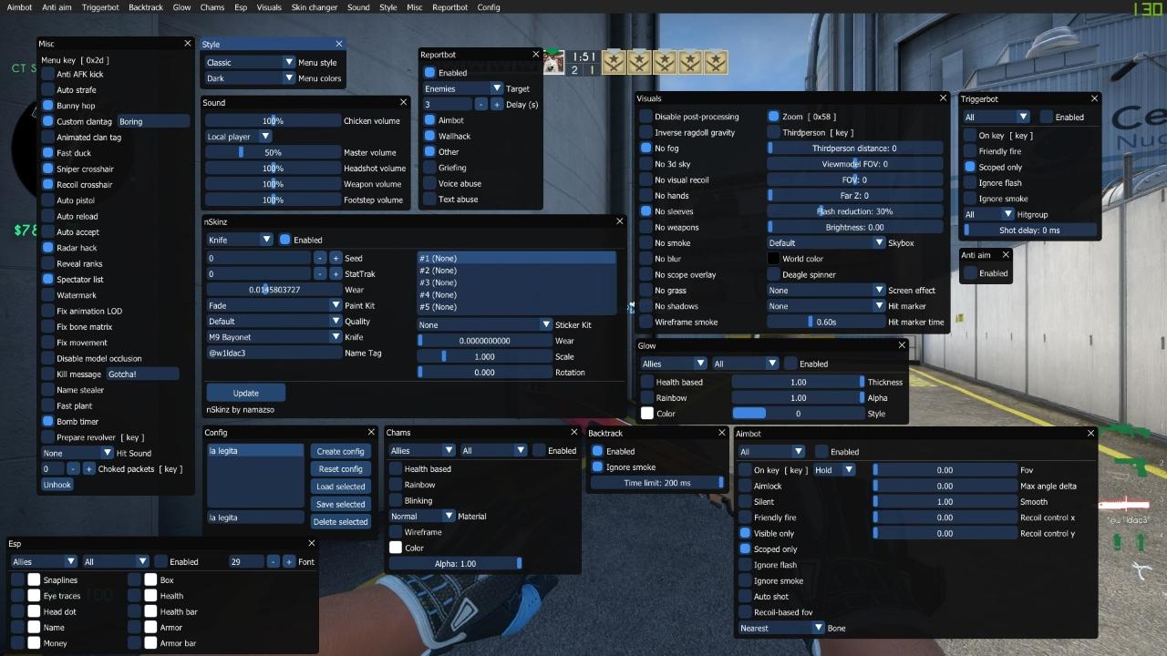 Multihack cheat for CS: GO